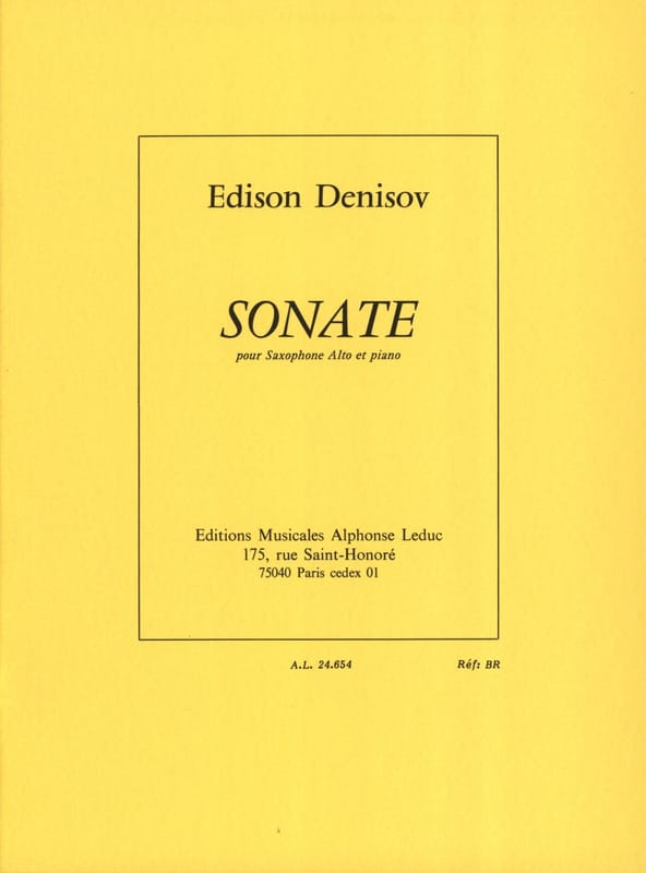 Sonate - Edison Denisov - Partition - Saxophone - laflutedepan.com