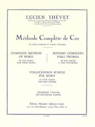 Méthode Complète Volume 3 Lucien Thévet Partition Cor - laflutedepan