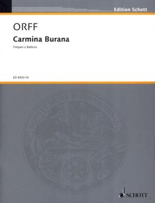 Carmina Burana ORFF Partition Ensemble de percussions - laflutedepan
