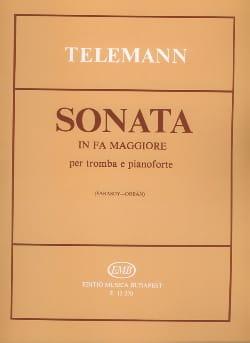 Sonata En Fa Majeur TELEMANN Partition Trompette - laflutedepan
