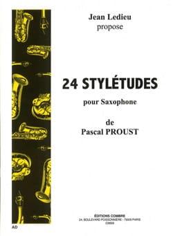 24 Stylétudes Pascal Proust Partition Saxophone - laflutedepan