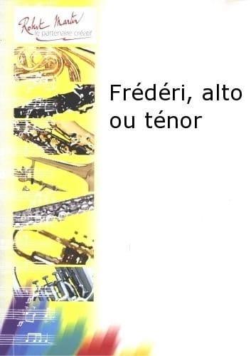 Frédéri - Francine Aubin - Partition - Saxophone - laflutedepan.com