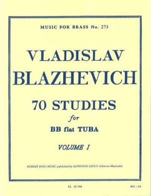 70 Etudes Volume 1 Vladislav Blazhevich Partition Tuba - laflutedepan
