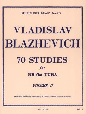 70 Etudes Volume 2 Vladislav Blazhevich Partition Tuba - laflutedepan