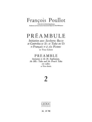 Préambule Volume 2 François Poullot Partition Tuba - laflutedepan