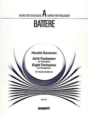 8 Fantasies Harald Genzmer Partition Vibraphone - laflutedepan