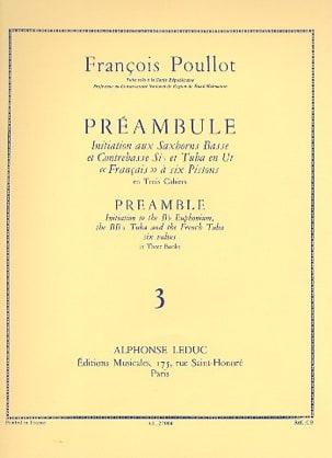 Préambule Volume 3 François Poullot Partition Tuba - laflutedepan