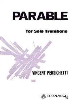 Parable 18 Vincent Persichetti Partition Trombone - laflutedepan