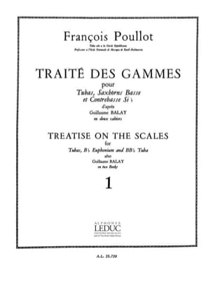 Traite des Gammes Volume 1 François Poullot Partition laflutedepan
