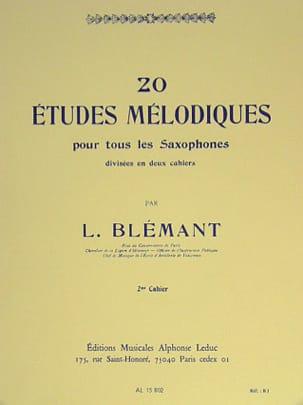 20 Etudes Mélodiques Volume 2 - Louis Blémant - laflutedepan.com