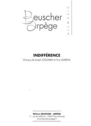 Indifférence Joseph Colombo & Tony Murena Partition laflutedepan