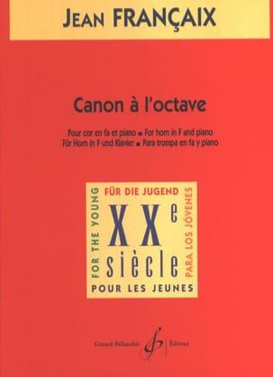 Canon A L'octave FRANÇAIX Partition Cor - laflutedepan