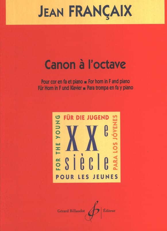 Canon A L'octave - FRANÇAIX - Partition - Cor - laflutedepan.com