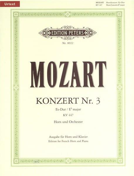 Konzert N° 3 KV 447 Es-Dur - MOZART - Partition - laflutedepan.com