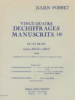 24 Déchiffrages manuscrits - B Julien Porret Partition laflutedepan