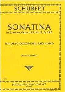 Sonatina In A Minor Opus 137 N° 2 D385 SCHUBERT Partition laflutedepan