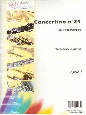 Concertino N° 24 - Julien Porret - Partition - laflutedepan.com