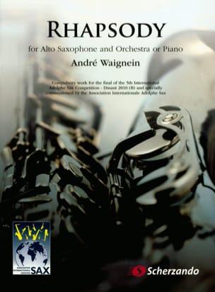 Rhapsody - André Waignein - Partition - Saxophone - laflutedepan.com