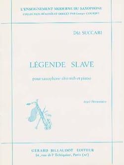 Légende Slave Dia Succari Partition Saxophone - laflutedepan