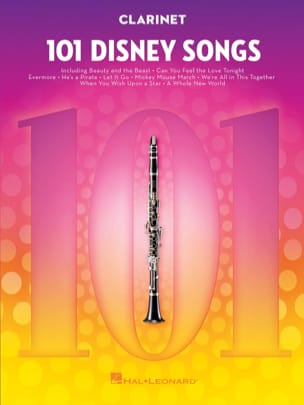 101 Disney Songs - DISNEY - Partition - Clarinette - laflutedepan.com