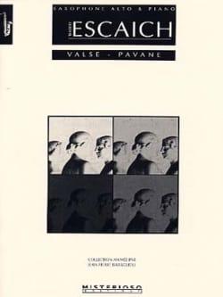 Valse - Pavane Thierry Escaich Partition Saxophone - laflutedepan