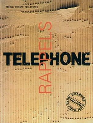 Rappels Volume 1 Téléphone Partition Chanson française - laflutedepan