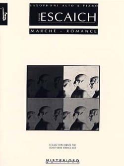 Marche - Romance Thierry Escaich Partition Saxophone - laflutedepan