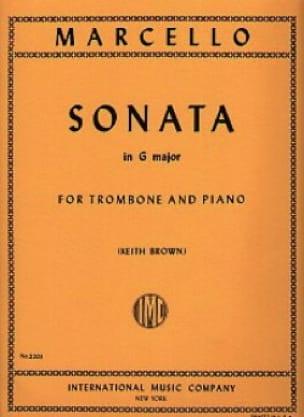 Sonate En Sol Majeur - Benedetto Marcello - laflutedepan.com