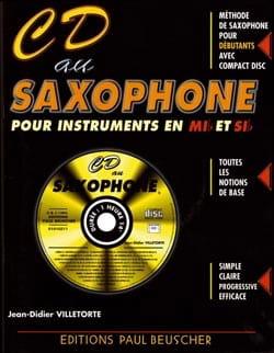 CD au saxophone Mib et Sib Didier Villetorte Partition laflutedepan