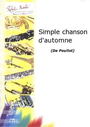 Simple chanson d'automne François Poullot Partition laflutedepan