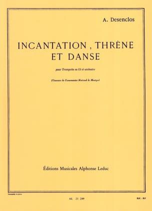 Incantation Thrène Et Danse Alfred Desenclos Partition laflutedepan