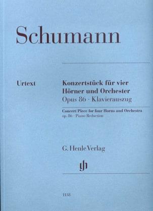 SCHUMANN - Konzertstück für 4 Hörner und Klavier opus 86 - Partition - di-arezzo.de