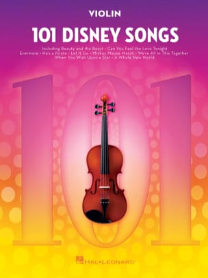 101 Disney Songs DISNEY Partition Violon - laflutedepan