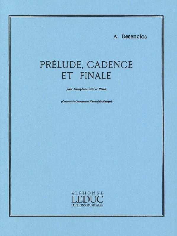 Prélude Cadence Et Finale - Alfred Desenclos - laflutedepan.com