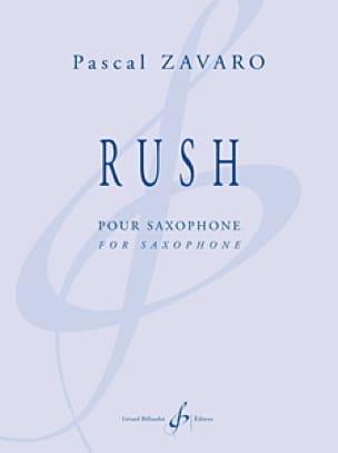 Rush - Pascal Zavaro - Partition - Saxophone - laflutedepan.com