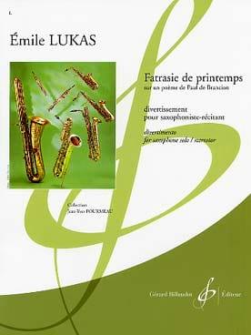 Fatrasie de Printemps Emile Lukas Partition Saxophone - laflutedepan
