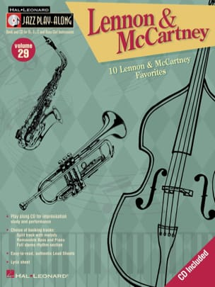 Jazz play-along volume 29 - Lennon & Maccartney BEATLES laflutedepan
