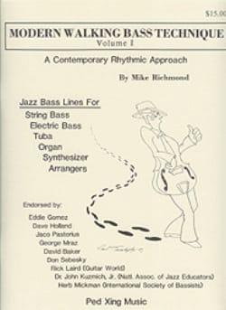 Modern Walking Bass Technique Volume 1 Mike Richmond laflutedepan