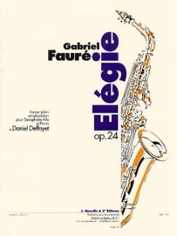 Elégie Opus 24 FAURÉ Partition Saxophone - laflutedepan