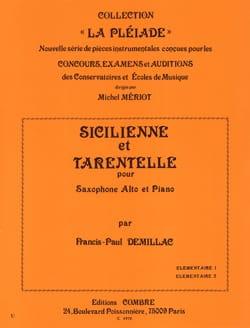 Sicilienne Et Tarentelle Francis-Paul Demillac Partition laflutedepan