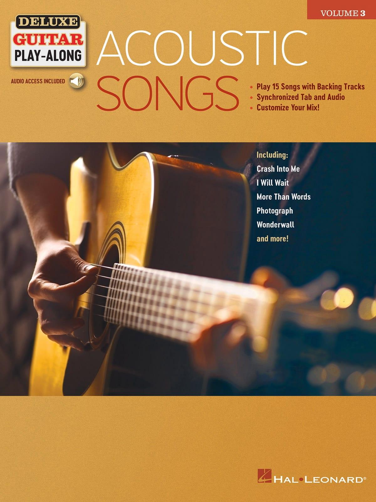 Deluxe Guitar Play-Along Volume 3 - Acoustic Songs - laflutedepan.com