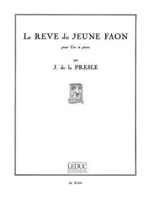 Rêve du Jeune Faon J. de La Presle Partition Cor - laflutedepan