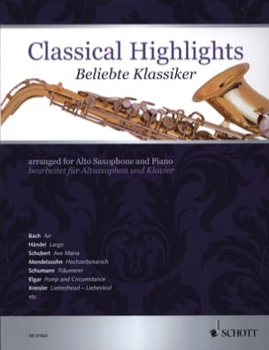 Classical highlights Partition Saxophone - laflutedepan