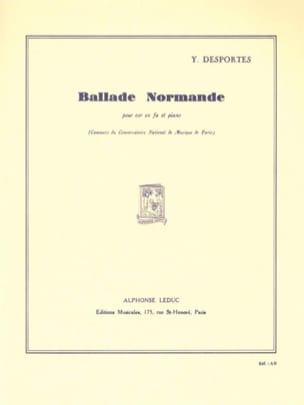 Ballade Normande Yvonne Desportes Partition Cor - laflutedepan