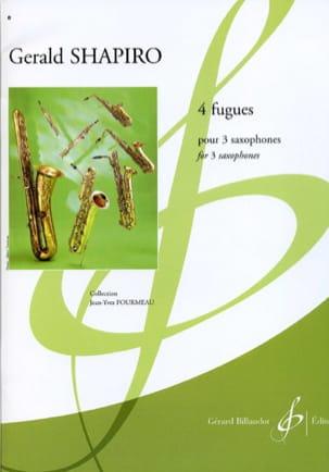 4 Fugues Gerald Shapiro Partition Saxophone - laflutedepan