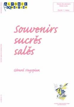 Souvenirs Sucrés Salés Gérard Hagopian Partition laflutedepan