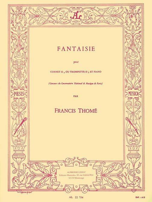 Fantaisie - Francis Thomé - Partition - Trompette - laflutedepan.com