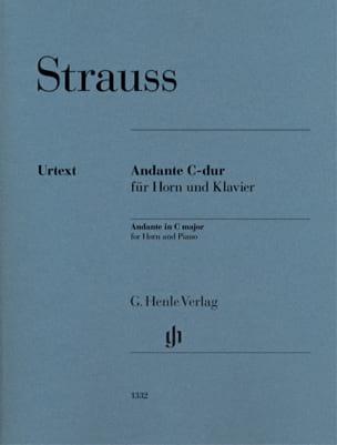 Andante en Ut majeur pour cor et piano Richard Strauss laflutedepan