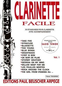 Clarinette Facile Volume 1 Pascal Thouvenin Partition laflutedepan