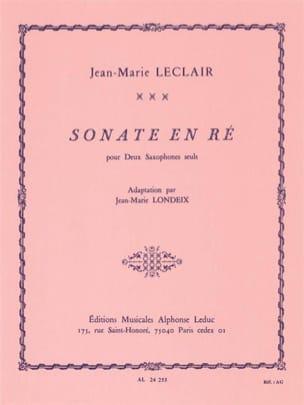 Sonate en Ré LECLAIR Partition Saxophone - laflutedepan